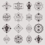 Molde luxuoso dos Logotypes das insígnias do projeto retro Imagens de Stock Royalty Free