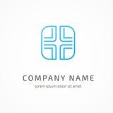 Molde médico do vetor do sumário do projeto do logotipo Fotos de Stock Royalty Free