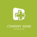 Molde médico do vetor do sumário do projeto do logotipo Fotografia de Stock Royalty Free