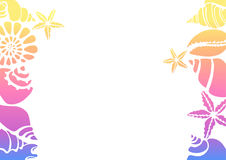 Molde macio da cor das silhuetas de shell do mar em um fundo branco Vetor Imagens de Stock Royalty Free