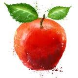 Molde maduro do projeto do logotipo da maçã alimento ou fruto ilustração stock
