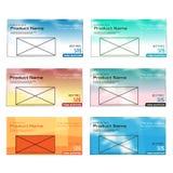 Molde moderno colorido da caixa de texto Fotos de Stock Royalty Free