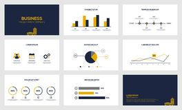 Molde moderno da apresentação do visualização dos dados comerciais Foto de Stock
