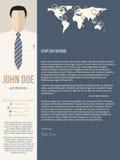 Molde moderno da carta de apresentação com homem de negócio ilustração do vetor