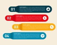 Molde moderno da informação do elemento do projeto de Infographic Fotografia de Stock Royalty Free