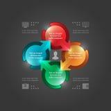 Molde moderno de Infographics do vetor. 3D circunda o diagrama. Projeto da ilustração do vetor EPS10 Fotos de Stock Royalty Free