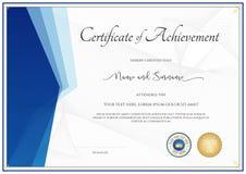 Molde moderno do certificado para a realização, apreciação, parti ilustração do vetor