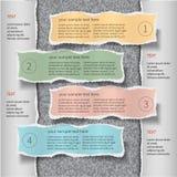 Molde moderno do infographics Foto de Stock