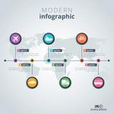 Molde moderno do infographics Fotografia de Stock