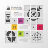 Molde moderno do projeto de Infographics Quadrados para o conceito do negócio Ilustração do vetor Fotos de Stock Royalty Free