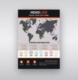 Molde moderno do projeto do folheto/inseto com Infographic imagem de stock royalty free