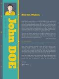 Molde moderno do resumo do cv da carta de apresentação com cores vívidas ilustração stock