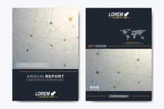 Molde moderno do vetor para o folheto, o folheto, o inseto, o anúncio, a tampa, o catálogo, o compartimento ou o informe anual Ne ilustração stock