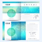Molde moderno do vetor para o folheto quadrado, folheto, inseto, tampa, catálogo, compartimento, informe anual Negócio, ciência ilustração do vetor
