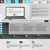 Molde moderno do Web site Imagens de Stock Royalty Free