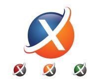 Molde moderno extra do logotipo imagem de stock