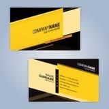 Molde moderno preto e amarelo do cartão Imagem de Stock