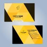 Molde moderno preto e amarelo do cartão Fotos de Stock Royalty Free