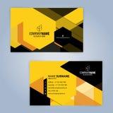 Molde moderno preto e amarelo do cartão Imagens de Stock Royalty Free