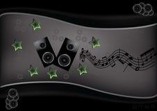 Molde musical abstrato Foto de Stock