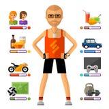 Molde novo do projeto do logotipo do vetor do indivíduo lifestyle ilustração stock