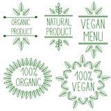 Molde orgânico, bio, natural do projeto ilustração stock