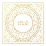 Molde ou cartão quadrado do projeto do cartaz do vetor Foto de Stock