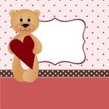 Molde para cartão de cumprimentos do Valentim ou do casamento Fotografia de Stock Royalty Free