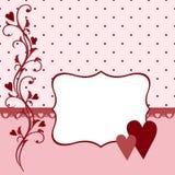 Molde para cartão de cumprimentos do Valentim ou do casamento Imagem de Stock