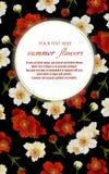 Molde para cartões, decorações do casamento, convite, sal Foto de Stock
