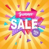 Molde para a compra em linha, móbil da bandeira da venda do verão, projeto do Web site Foto de Stock Royalty Free