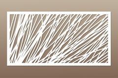 Molde para cortar Linha abstrata, teste padrão geométrico Corte do laser Ajuste o 1:2 da relação Ilustração do vetor ilustração do vetor