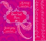 Molde para o cartão do ` s do Valentim ilustração stock