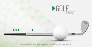 Molde para seu projeto do golfe com texto da amostra ilustração do vetor