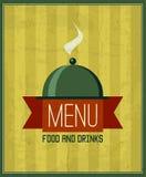 Molde para seu restaurante, café do projeto do menu do vintage, restaurante Fotos de Stock Royalty Free