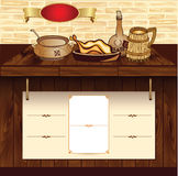 Molde para a site retro do alimento ilustração stock