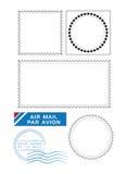 Molde postal dos selos ilustração royalty free