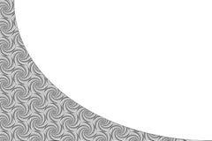 Molde preto e branco do cartão Conceito de projeto do vetor Foto de Stock