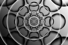 Molde preto e branco do flutuador, fundo abstrato ilustração stock