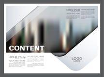 Molde preto e branco do projeto da disposição do folheto anual ilustração stock