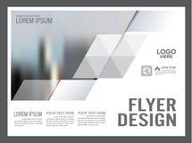 Molde preto e branco do projeto da disposição do folheto anual ilustração royalty free