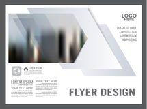 Molde preto e branco do projeto da disposição do folheto anual ilustração do vetor
