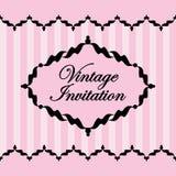 Molde preto e cor-de-rosa do vintage Ilustração do vetor Foto de Stock