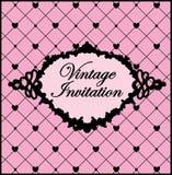 Molde preto e cor-de-rosa do vintage Ilustração do vetor Imagens de Stock