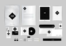 Molde preto e quadrado da identidade corporativa para seu negócio Foto de Stock