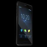 Molde preto realístico de Smartphone ou do telefone celular rendição 3d Fotos de Stock Royalty Free