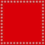 Molde quadrado bonito dos flocos de neve ou chrismas ou feriado do ano novo ilustração do vetor