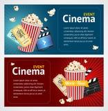 Molde realístico do cartaz cinematográfico do cinema Vetor ilustração do vetor