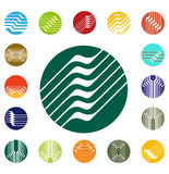 Molde redondo do logotipo do vetor do projeto Fotografia de Stock Royalty Free
