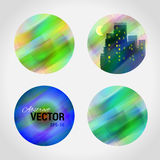 Molde redondo do logotipo do vetor do projeto Teste padrão colorido da bola Imagens de Stock Royalty Free